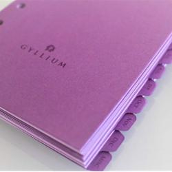 Undated Agenda Refill with Purple Dividers