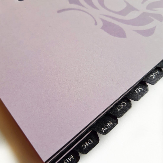 Undated Agenda Refill with Black Dividers